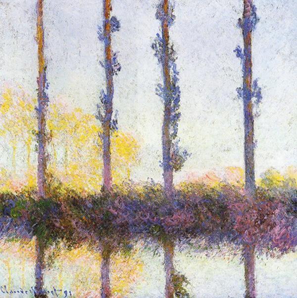 """Claude Monet, """"Les Quatre Arbres,"""" 1891"""