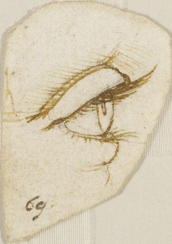 Leonardo Da Vinci Vinci 1452 Amboise 1519 An Eye In Profile Leonardo Da Vinci Art Leonardo
