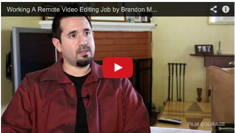 Working A Remote Video Editing Job By Brandon M Freer Of Kevin Eugene Davis Man In A Box Via Http Filmcourage Com Mo Editing Jobs Video Editing Filmmaking