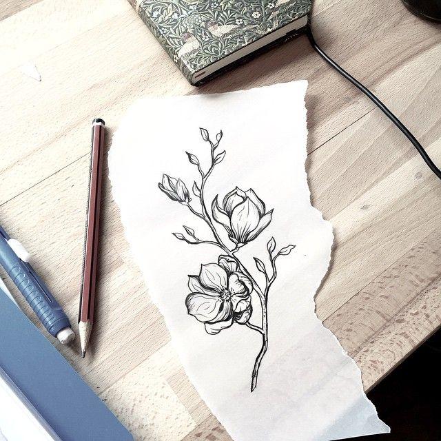 magnolia caitlin thomas lucid lines adelaide tattooooooo pinterest magnolia tattoo. Black Bedroom Furniture Sets. Home Design Ideas