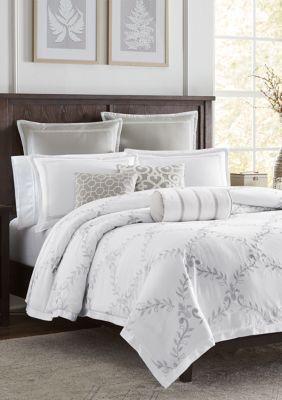 Biltmore Vineyard 3 Piece Comforter Set Grey Queen Comforter