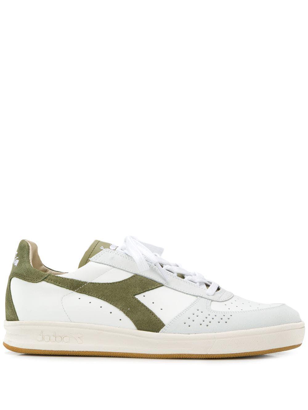 0c6b0feb DIADORA DIADORA LOGO EMBROIDERED SNEAKERS - WHITE. #diadora #shoes ...