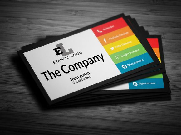 Colorful Personal Business Card | Business cards