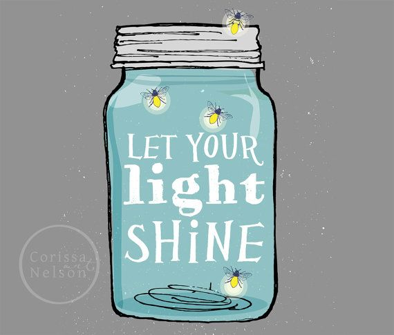 Classroom Decoration Ideas Forjaar ~ Mason jar let your light shine christian art instant