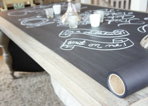 Make Cheap Chalkboard Table Runners Placemats