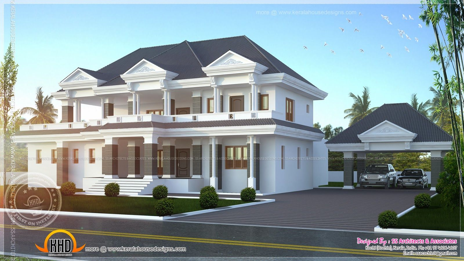 Luxury house plans posh luxury home plan audisb luxury for House turret designs