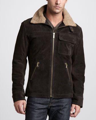 464e493c591 Belfast Suede Bomber Jacket | Men's Fashion | Bomber jacket, Jackets ...