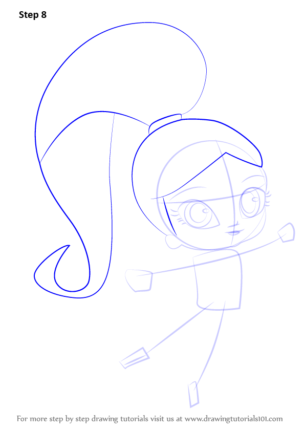 learn how to draw shimmer from shimmer and shine shimmer and shine step by