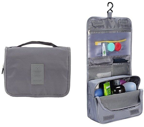 7a2a3270d3c0 Portable Hanging Toiletry Bag and Travel Organizer for Women Makeup or Men Shaving  Kit for Trip