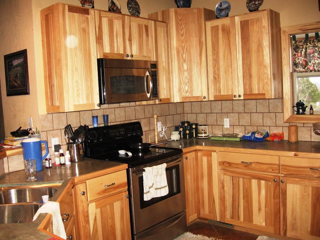 kitchen: contemporary cleaning hickory kitchen cabinets and hickory