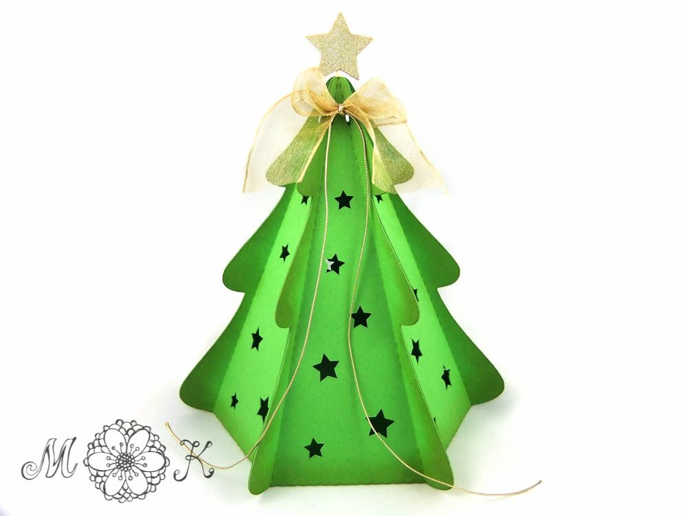 weihnachtsbaum box diy plotter verpackungen pinterest. Black Bedroom Furniture Sets. Home Design Ideas