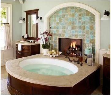 I Cant Wait To Have A Big Fancy Tuband Like The Fireplace