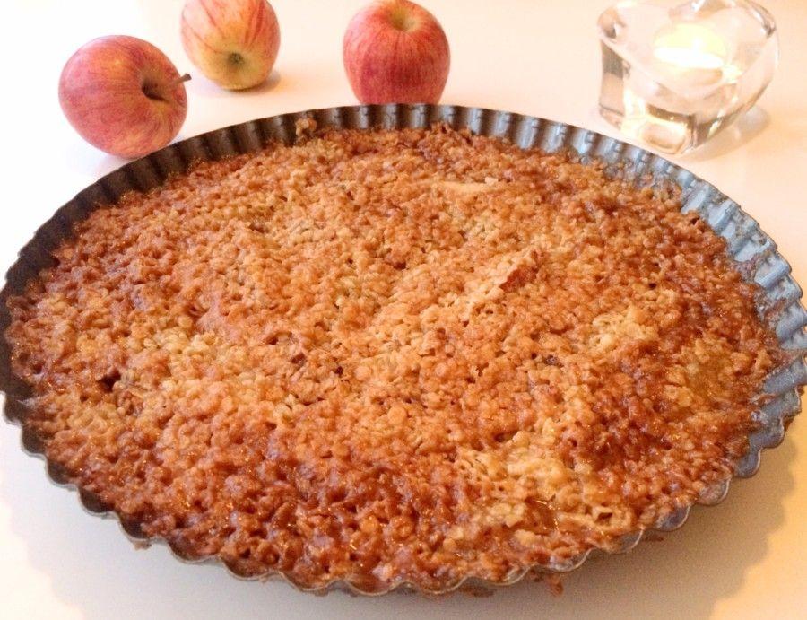 glutenfri äppelpaj utan havregryn