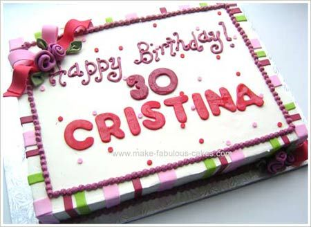 30th Birthday Cake 30th birthday cakes Cake and Sheet cake designs