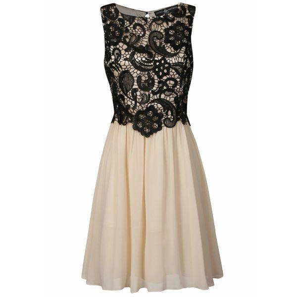 dress #black #gold #champagne #lace #sleeveless #dance #semiformal ...
