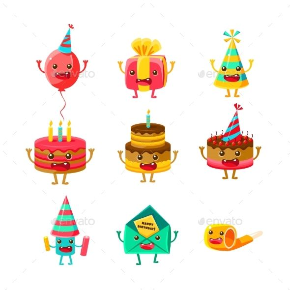 Happy Birthday And Celebration Party Symbols Symbols Happy