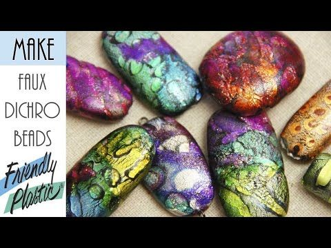 (17162) HOW TO CREATE BEADS WITH FRIENDLY PLASTIC - PART 2 - FAUX DICHROIC - YouTube