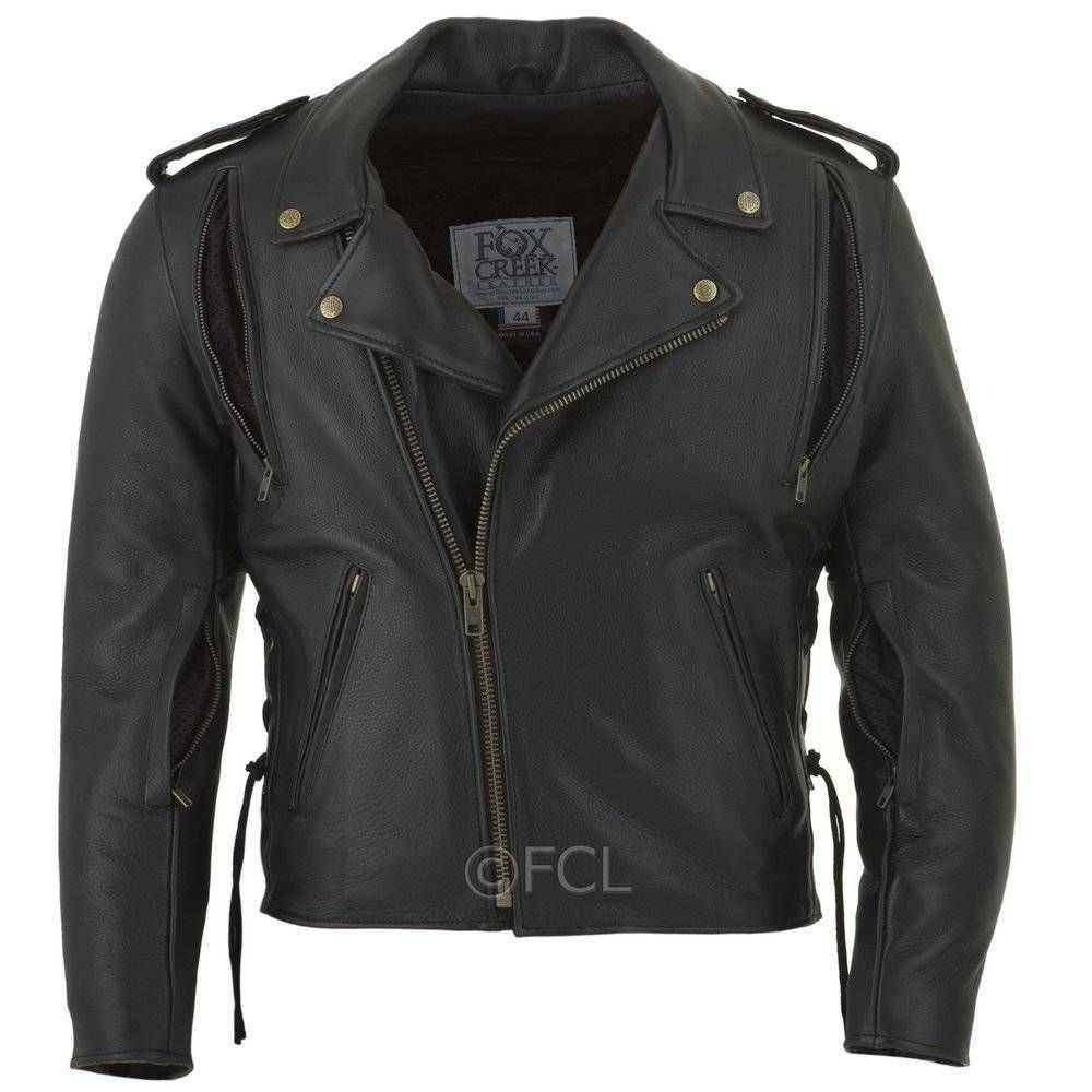 Mens classic motorcycle jacket ii leather jacket