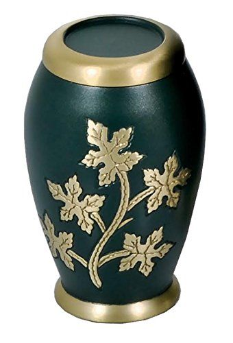 Small Decorative Urns Cremation Brass Urn Small Keepsake Ivy And Green ** You Can Find