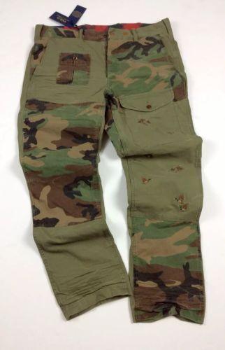 445ce3b3f2556 Polo-Ralph-Lauren-Men-Military-Army-Camo-Patchwork-Combat-Surplus-Cargo -Pants