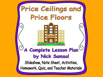 Price Ceilings And Price Floors Lesson Plan And Activities Lesson Plans How To Plan Lesson