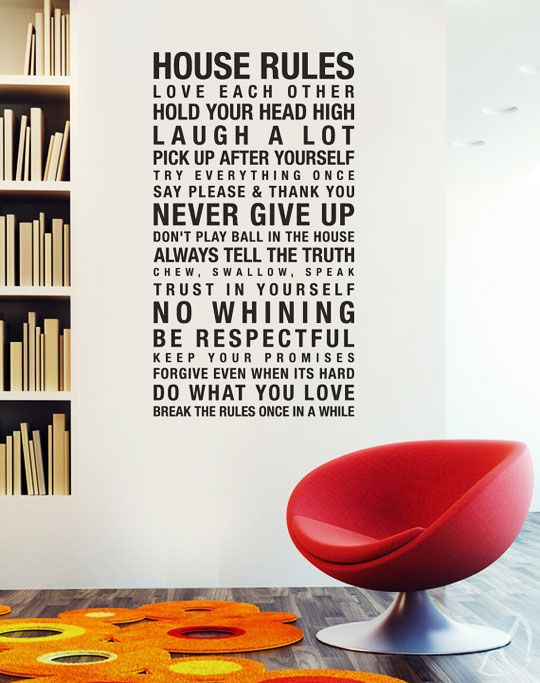 House Rules by Urban Walls. / #walldecal