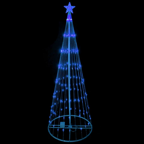 6 Blue Led Lighted Show Cone Outdoor Animated Tree Cone Christmas Trees Outdoor Tree Lighting Blue Led Lights