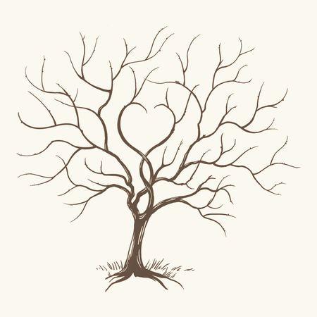 Arbre de vie ou arbre a empreinte arbre de vie pinterest arbre a empreinte livre d 39 or et - Dessin arbre simple ...