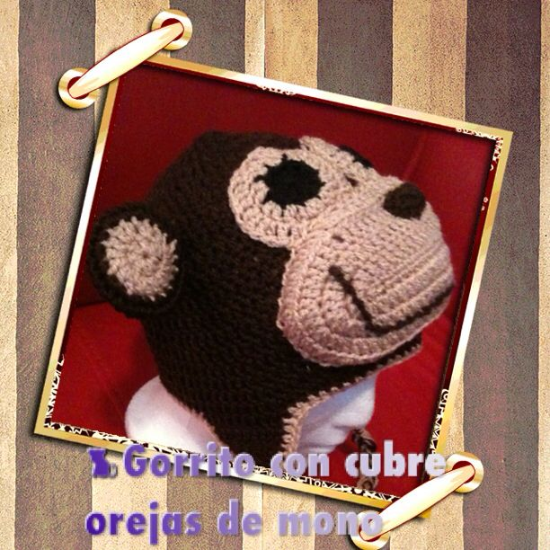 Changuito en crochet,  Beanie with earflaps