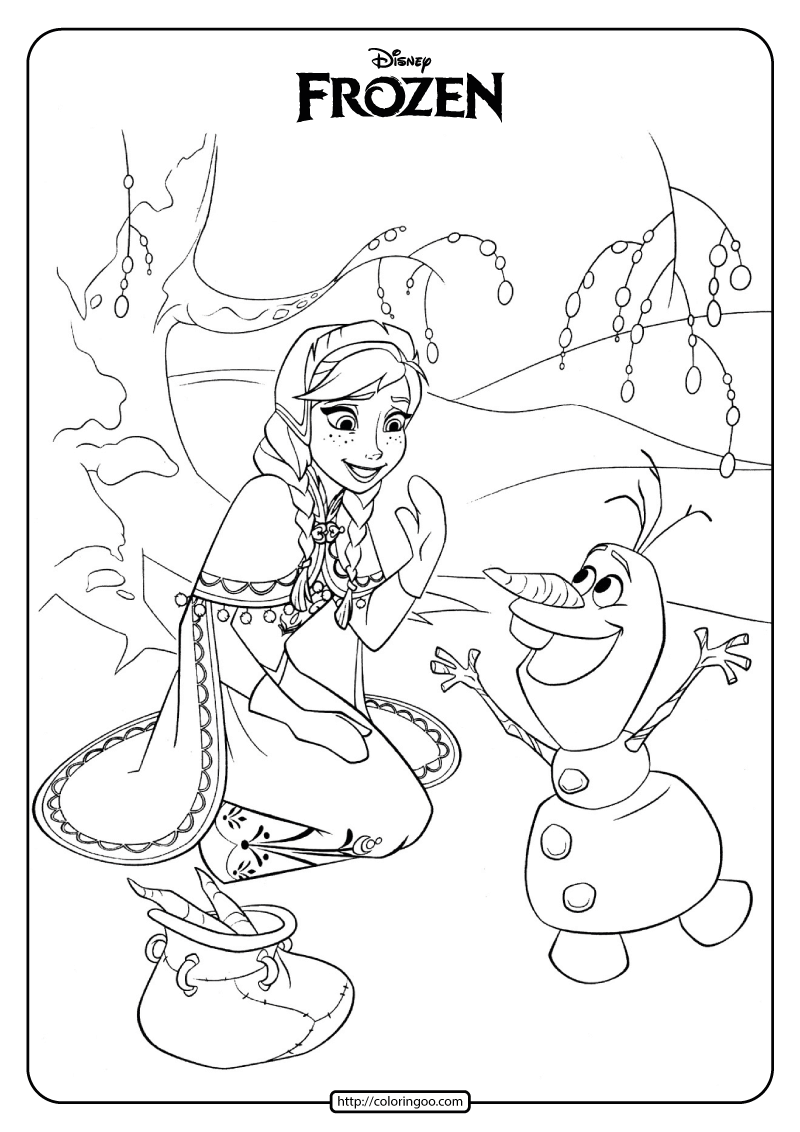 Disney Frozen Anna And Olaf Coloring Pages 02 Disney Coloring Pages Coloring Pages Princess Coloring Pages