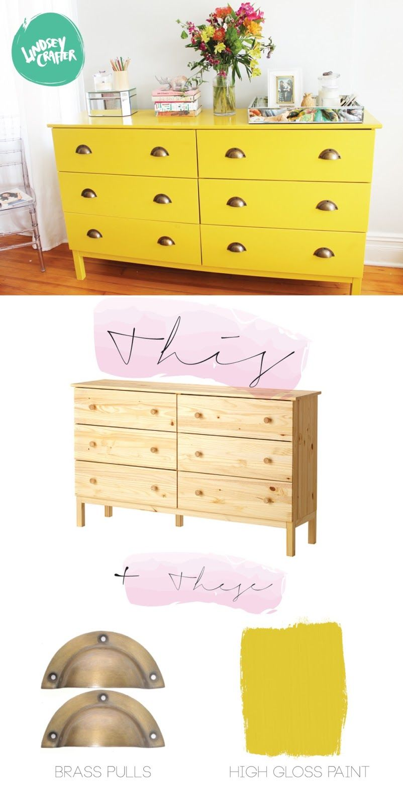 LINDSEY CRAFTER Ikea Hacks Luxe Laquer Dresser