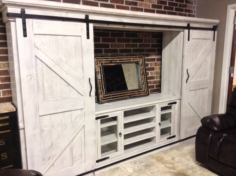 17 Diy Entertainment Center Ideas And Designs For Your New Home Barn Door Entertainment Center Rustic