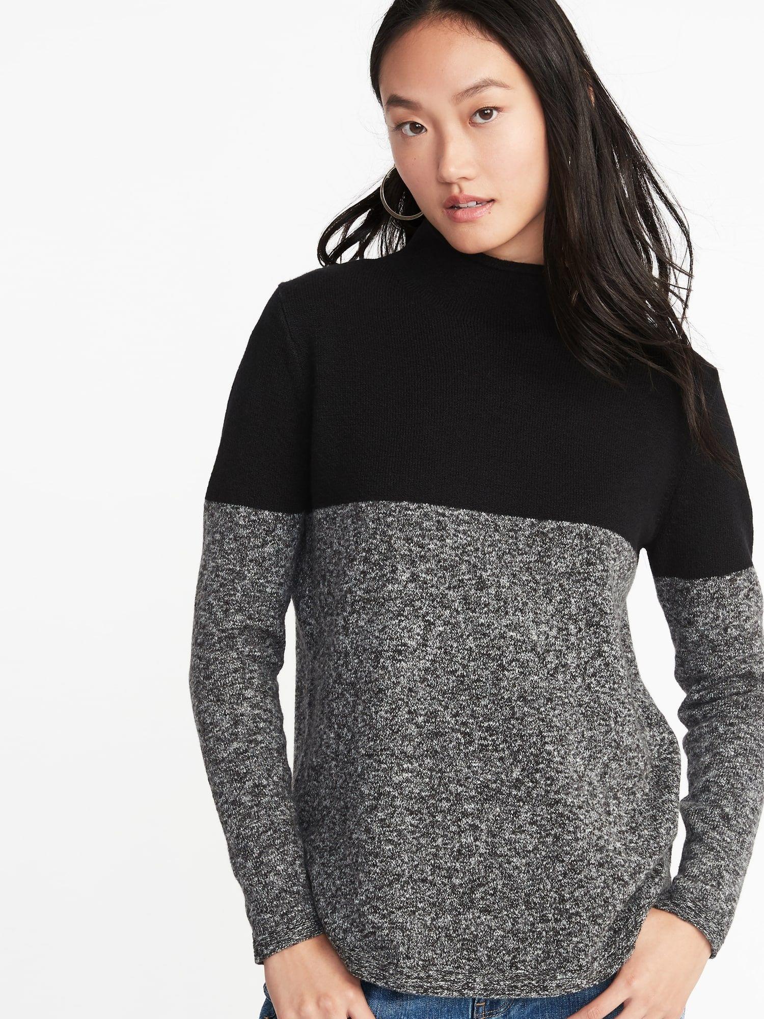 2555eb8f Mock-Turtleneck Sweater for Women | fashion + style | Cardigan ...
