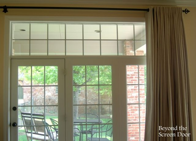 How To Treat 3 Corner Windows And A Triple French Door All In One Master Bedroom Sonya Hamilton Designs Windows French Doors Corner Window