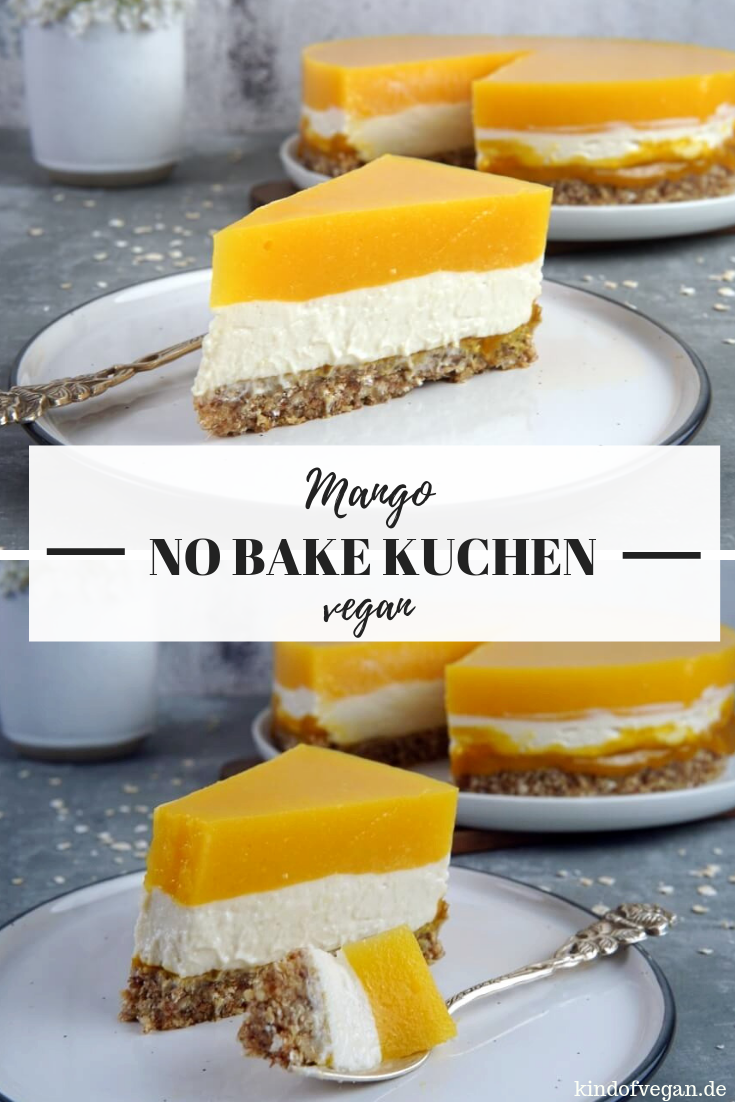 Photo of NO BAKE KUCHEN MIT MANGO | REZEPT & VIDEO