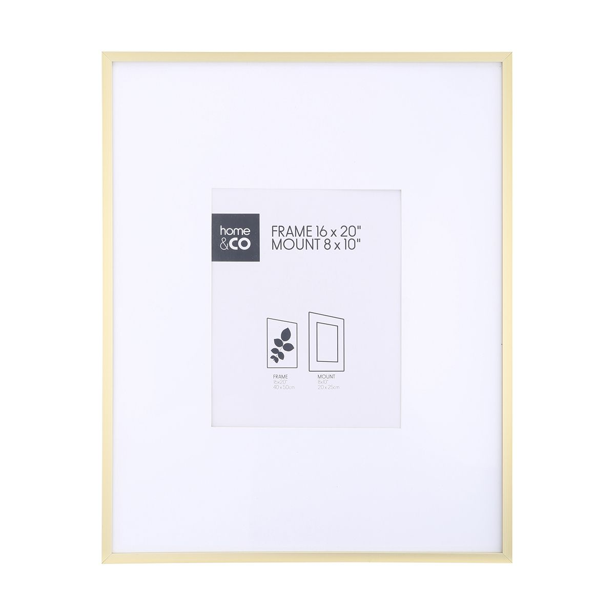 8in. x 10in. Photo Frame - Gold Look Metal