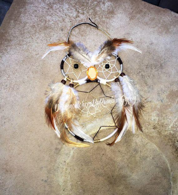 Owl Dreamcatcher by DreamcatchersByRG on Etsy