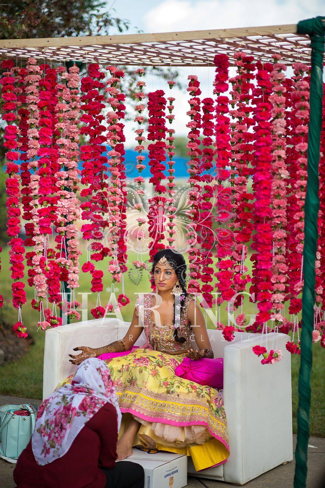 Simple Mehndi Wedding Decoration Neha Haring Photography
