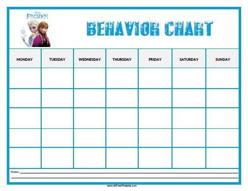 Free Printable Frozen Behavior Chart To Motivate Kids Good Behavior Description From Al Classroom Behavior Chart Behaviour Chart Free Printable Behavior Chart