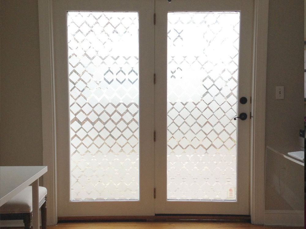 Diy Glass Door Privacy Hack Contact Paper Diy Door Sliding