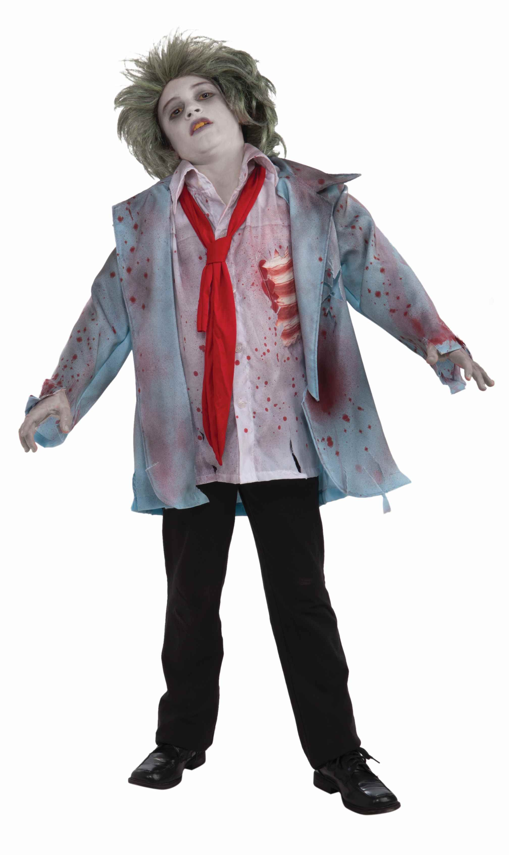 boys scary zombie halloween costume this is a scary halloween zombie man costume for kids this spooky costume comes with three pieces