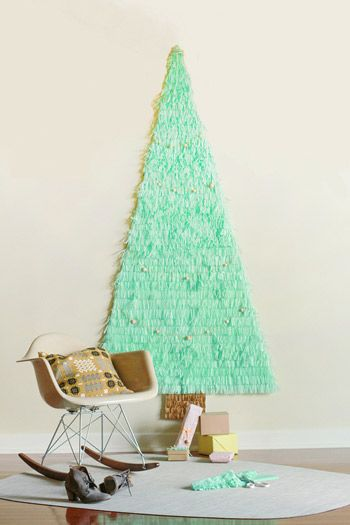 10 Best DIY Faux Christmas Trees Tissue paper, Christmas tree and