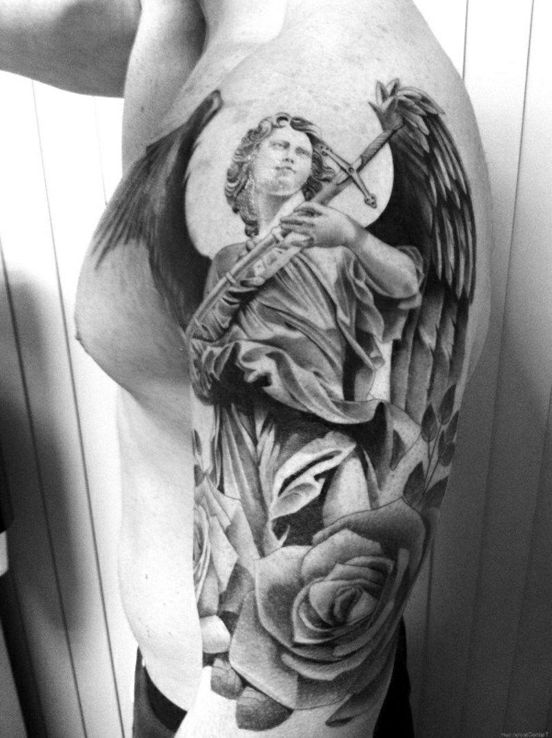 Großartig Tattoo Motive Engel Beste Wahl Rose