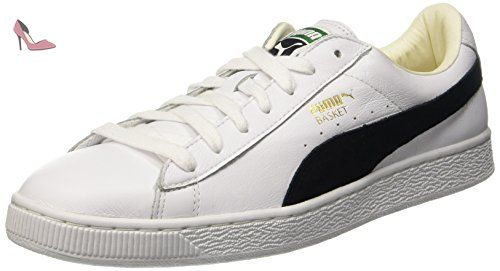 Puma Basket Classic, Sneakers Basses Homme, Blanc (White