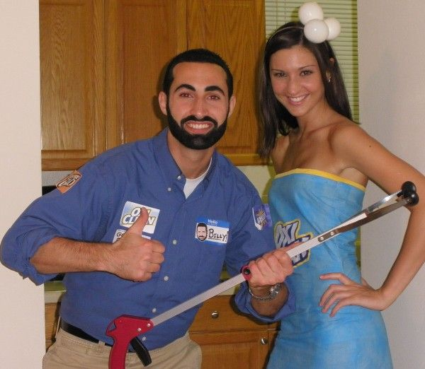 Billy Mays W His Oxiclean Costume Pop Couples Costumes Billy Mays Couple Halloween Costumes