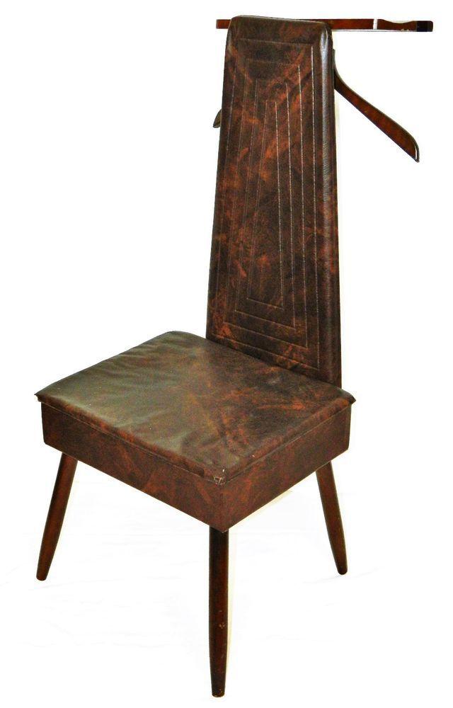 Vintage Gentleman S Chair Storage Cabinet Clothes Hanger