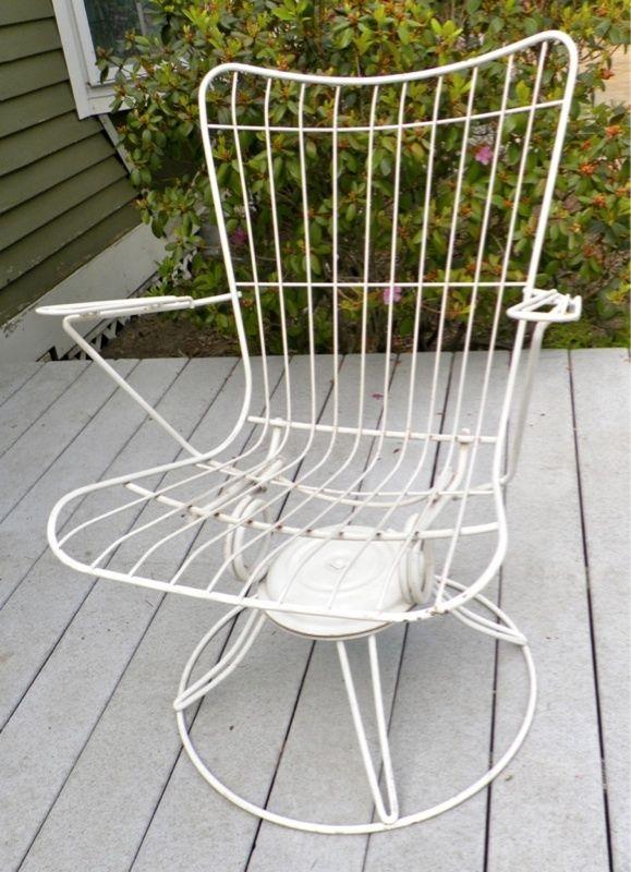50 S Mid Century Homecrest Patio Swivel Rocker Wire Chair Bertoia Eames Era Contemporary Outdoor Furniture Modern Wire Chair Diy Patio Furniture