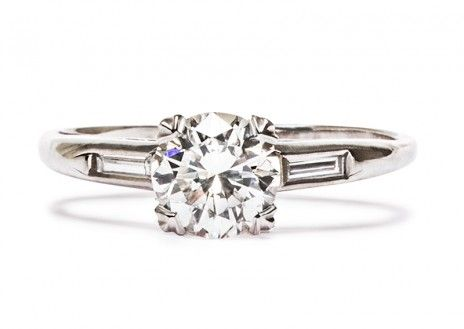 Camilla is a sleek 1930's vintage Art Deco engagement ring