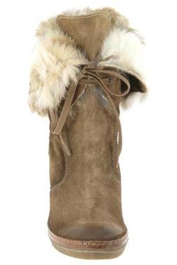 8446158214b Bottes fourrees manas design taupe 1212 chaussures femme manas design