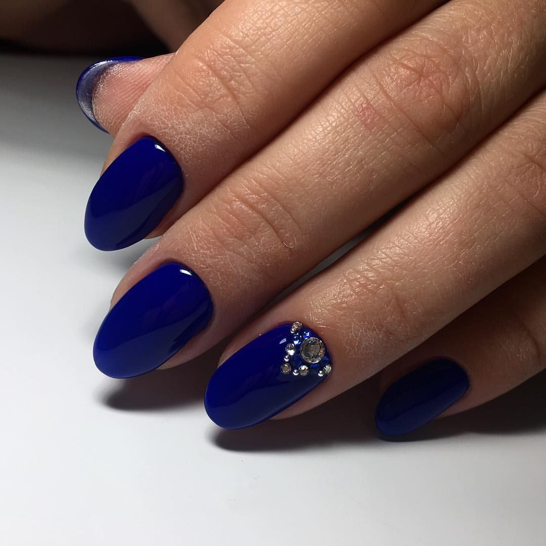 Nail Art #2446 - Best Nail Art Designs Gallery   Bright blue nails ...